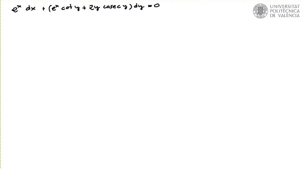 Ecuación diferencial reducible a exacta por factor integrante 3