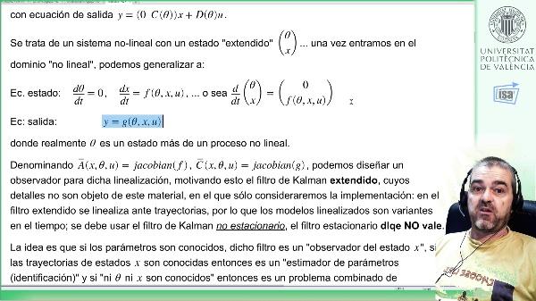 Identificación+observación estados mediante Filtro de Kalman extendido (2: código y resultados simulación)