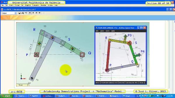 Solución Cinemática Simbólica a_c_0658 con Mathematica -A- 08 de 10