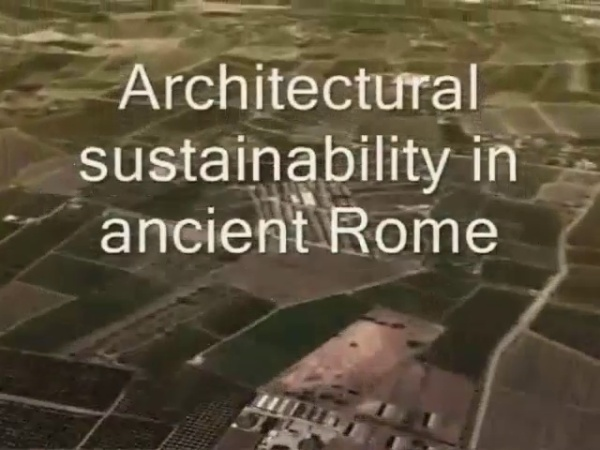 Architectural Sustainability in anciente Rome: Domus Horta Vella