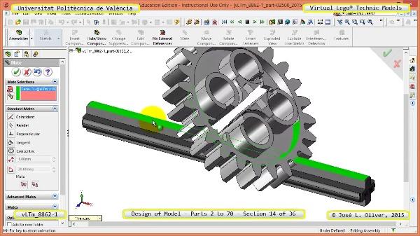 Creación Virtual Modelo Lego Technic 8862-1 ¿ Piezas 2 a 70 ¿ 14 de 36