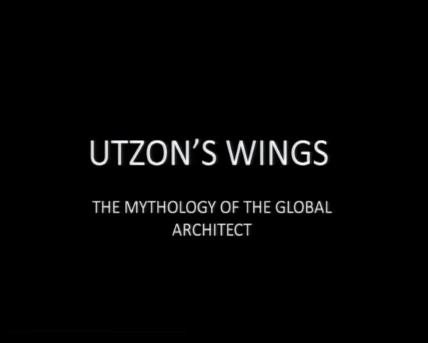 Conferencia Mark Wigley. Utzons Wings: The Mithology of the Global Architect