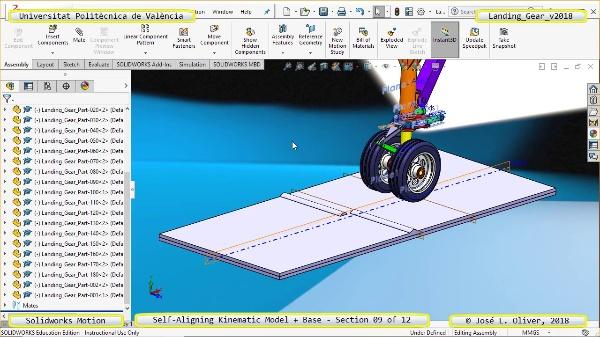 Simulación Dinámica de Tren de Aterrizaje con Solidworks Motion v2017 - 09 de 12