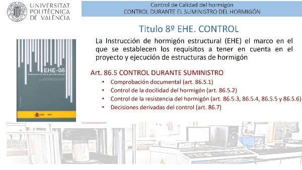 Control de la calidad del hormigón durante su suministro