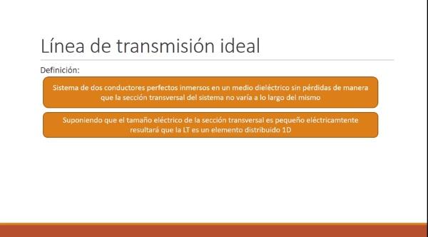 Fundamentos de Transmisión. Tema 4. 2. Línea de transmisión ideal