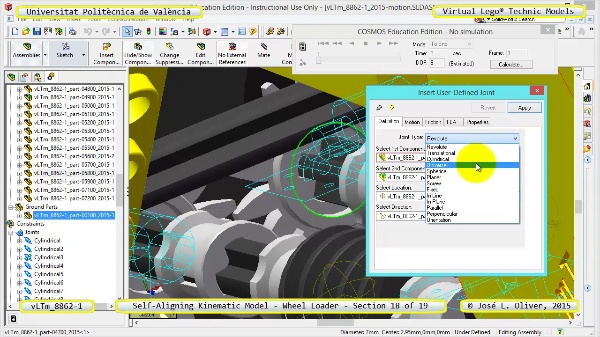 Simulación Cinemática Modelo Lego Technic 8862-1 -Cargador- 18 de 19