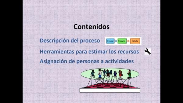 (Gestión de proyectos) Tema 6: Proceso. Estimar los recursos