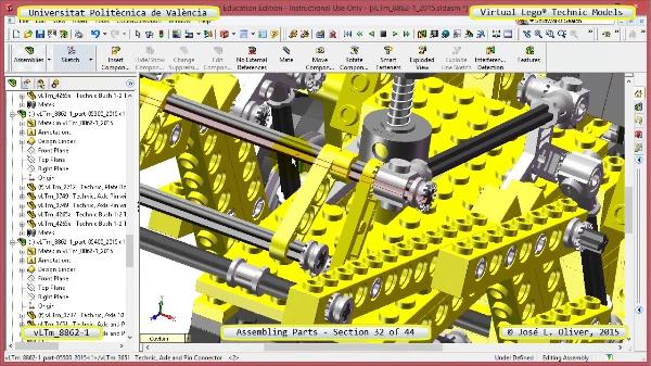 Creación Virtual Modelo Lego Technic 8862-1 ¿ Montaje Modelo ¿ 32 de 44