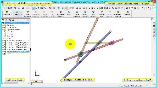 Creación Virtual Mecanismo a-z-1196 con Solidworks - 6 de 6