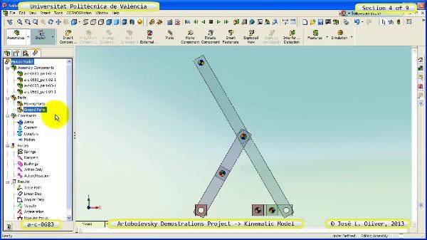 Simulación Mecanismo a_c_0683 con Cosmos Motion - 4 de 9