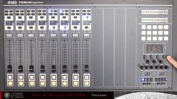 Mesa Digital AEQ FORUM - Funciones de Procesado del Canal