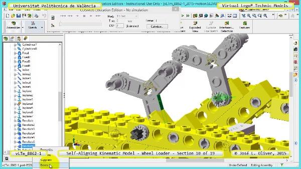 Simulación Cinemática Modelo Lego Technic 8862-1 -Cargador- 10 de 19