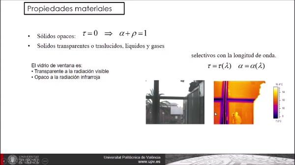 Balance de energía en una superficie sometida a radiación térmica