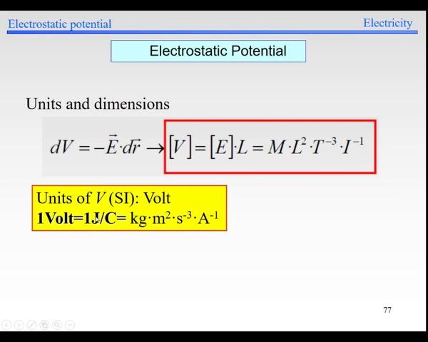 Elec-1-Potential-S77-Potential units