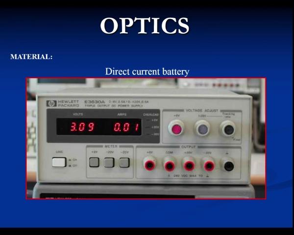 Physics Optics video 1