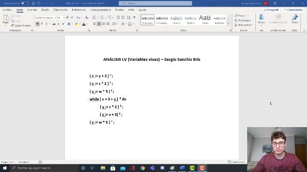 Ejercicio Variables Vivas (LV) - Sergio Sanchis Briz