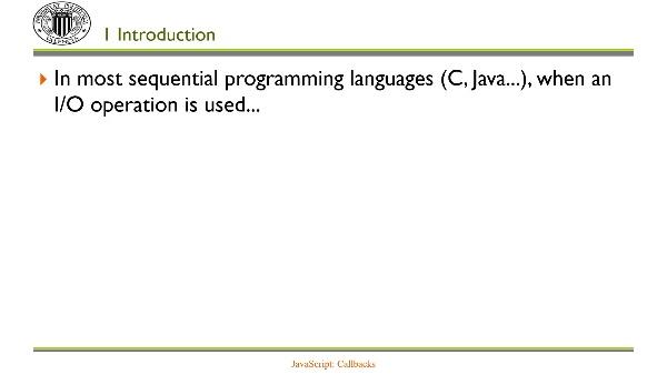 JavaScript: Callbacks