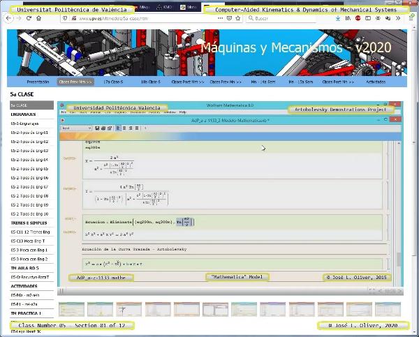 Mecánica y Teoría de Mecanismos ¿ 2020 ¿ MM - Clase 05 ¿ Tramo 01 de 12