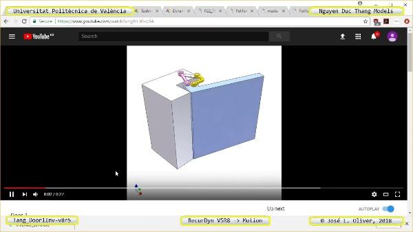 Simulación Cinemática Tang_Door1Inv-v8r5 con Recurdyn - AdP-c