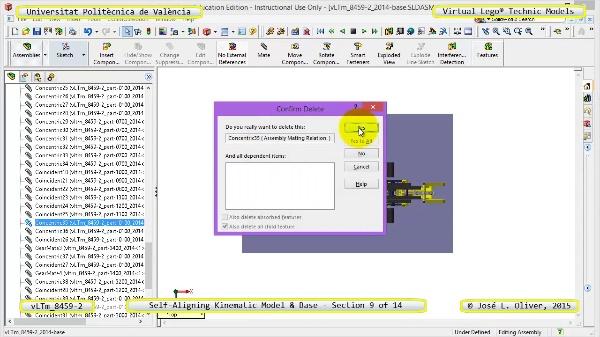 Simulación Dinámica Lego Technic 8459-2 sobre Base ¿ 09 de 14