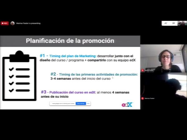 SPOC Gestión de MOOC. Planificación del marketing por parte de los socios