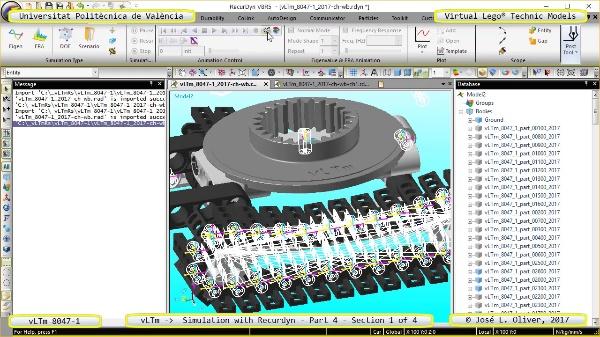 Simulación Cinemática Lego Technic 8047-1 con Recurdyn - Parte 4 ¿ 1 de 4
