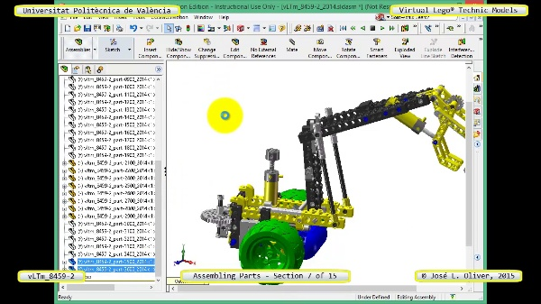 Montaje Modelo Lego Technic 8459-2 con Solidworks ¿ 07 de 15