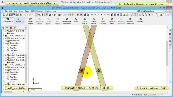 Simulación Mecanismo a-c-0654 con Cosmos Motion - 06 de 11