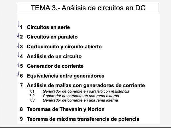 Teoría de Circuitos: 3.7.2.- Mallas con generador de corriente enrama externa
