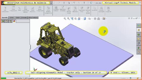 Simulación Dinámica Lego Technic 8862-1 - Tractor - sobre Base - 26 de 27