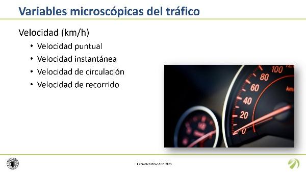 Las variables microscópicas del tráfico
