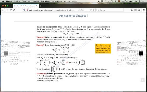 Teoría aplicaciones lineales I