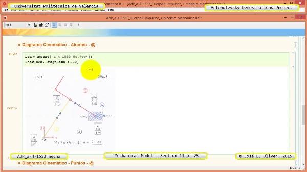 Simulación Mecanismo a-4-1553 con Mechanica - 13 de 25 - Modelo Gráfico