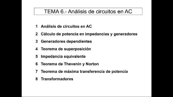 Teoría de Circuitos 1. Lección 6. 1-1 Introducción