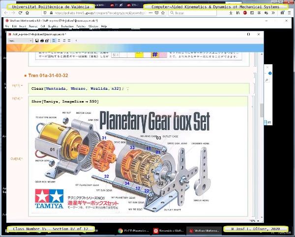 Mecánica y Teoría de Mecanismos ¿ 2020 ¿ MM - Clase 15 ¿ Tramo 07 de 12