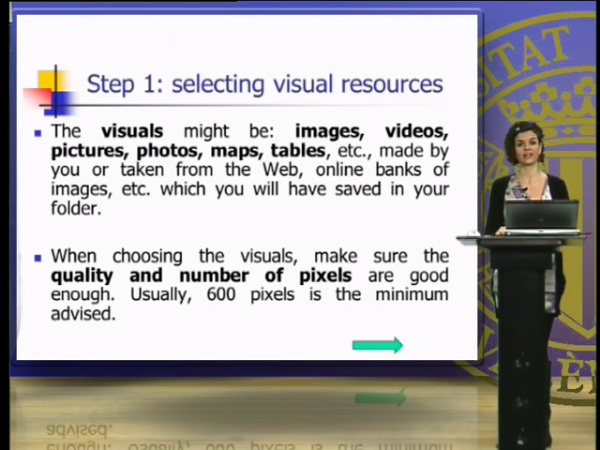 Selecting and importing the audiovisual resources for the digital story