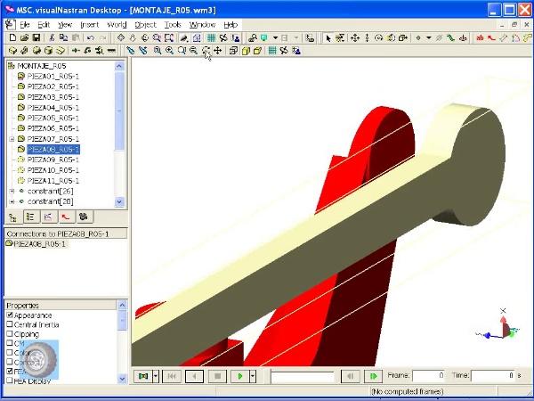 Montaje de robot ABB con MSC Visual Nastran Desktop -Tramo 05 de 07