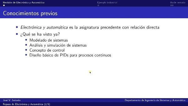 Repaso de Electrónica y Automática (GIM)