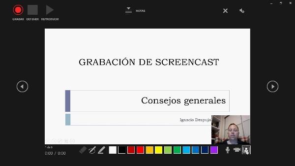 Grabar un vídeo screencast con Powerpoint
