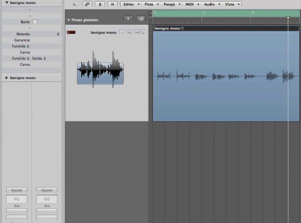 Espacialización binaural con Logic Pro 9