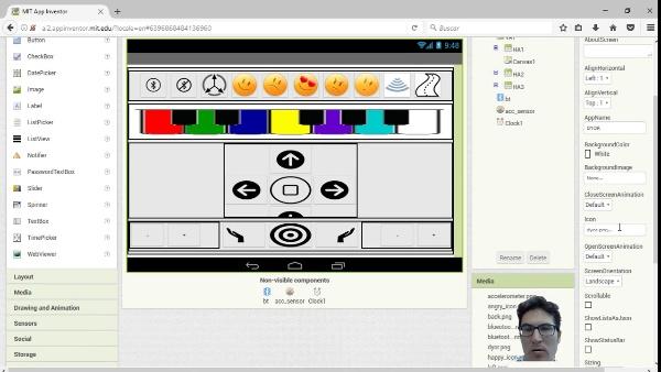 App Inventor2 Interfaz de Control Remoto de DYOR