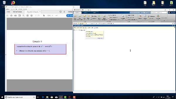 Resolución de ecuaciones difeenciales con Matlab (I)