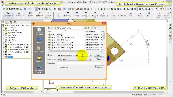Simulación Mecanismo a-c-0683 con Mechanica - 06 de 13