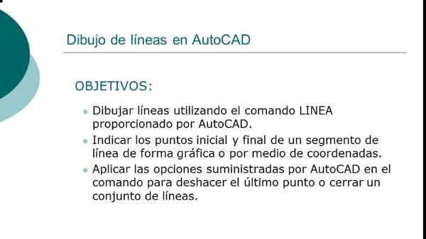 Dibujo de líneas con AutoCAD