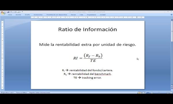 Ratios: Información