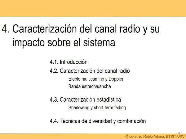 Tema 4. Canal Radio - Multicamino y Doppler