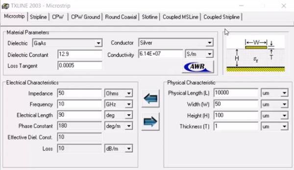 Fundamentos de transmisión. Tema 4.6.4. Líneas de transmisión típicas. Ejemplo programa comercial.