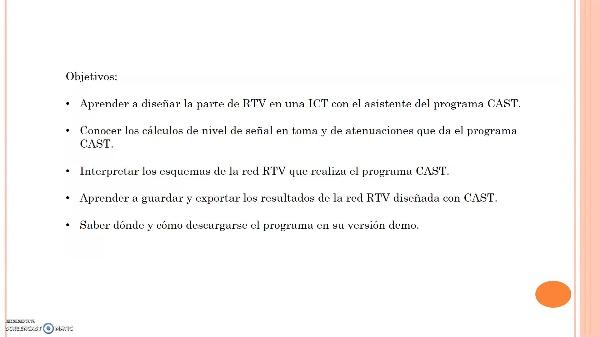 Simulación RTV de ICT con CAST