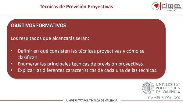 Técnicas Proyectivas de Previsión de la Demanda