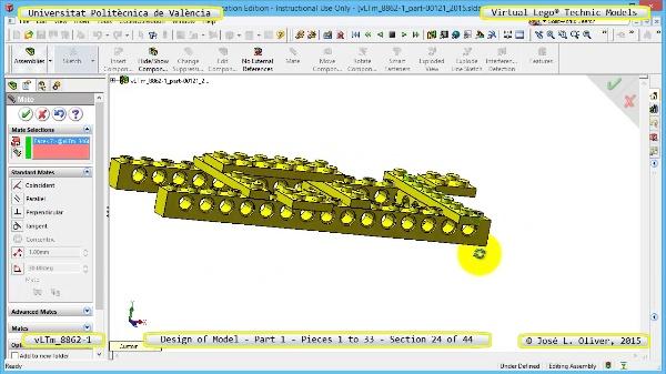 Creación Virtual Modelo Lego Technic 8862-1 ¿ Pieza 1 ¿ 24 de 44